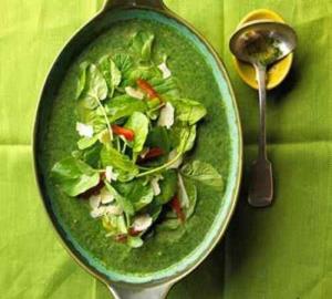 سوپ و آش/ سوپ با طعم عدس و رنگ اسفناج