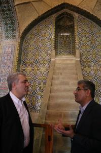 رونمایی از جاذبه جدید تاریخی ، گردشگری شیراز با حضور رئیس سازمان میراث فرهنگی کشور