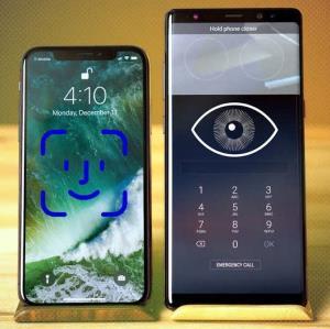 مقایسه اسکن عنبیه سامسونگ با فیس آیدی اپل