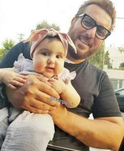 محسن کیایی و دخترش بامزه اش «رز»