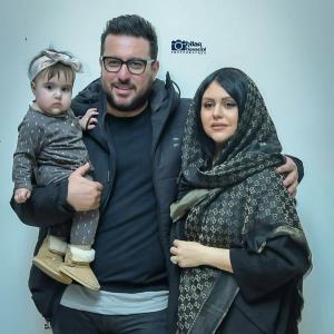 محسن کیایی و همسر و دخترش رز