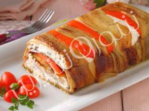 غذای اصلی/ گراتن قالبی بادمجان و ماهی