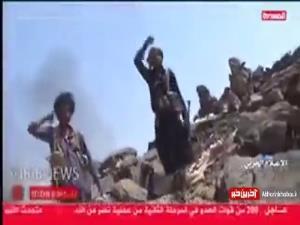 تصاویری از تسلط رزمندگان یمنی بر انبار مهمات سعودی