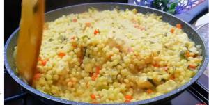 آموزش تهیه پاستا با مرغ و سبزیجات