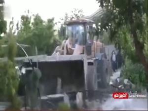 تخریب بیش از 160 باغ ویلای غیر قانونی در اطراف پایتخت