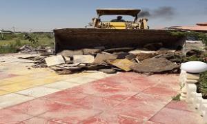 تخریب 2 باغویلای غیرمجاز در شوشتر