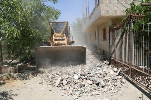 ۱۰ ویلای غیرمجاز شهرستان سامان تخریب شد