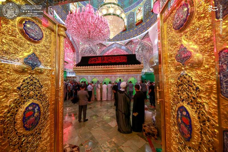عکس/ حال و هواي محرم در حرم حضرت علي(ع)