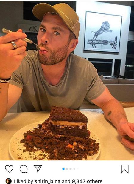 چهره ها/ جشن تولد 37 سالگی کریس همسورث