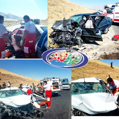 3 کشته و يک مجروح در تصادف جاده نهاوند-کرمانشاه