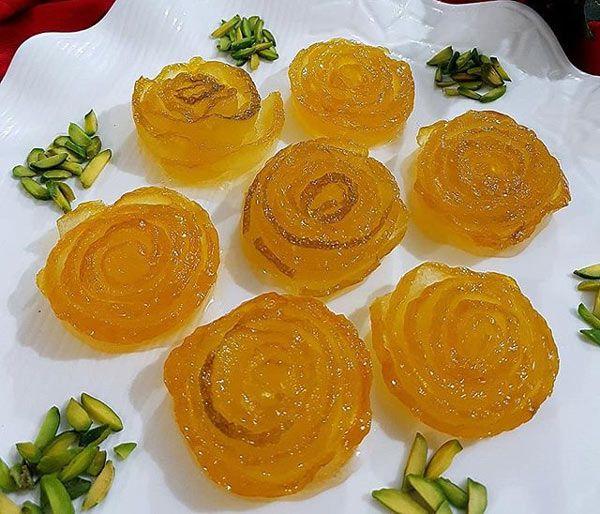 3 مرباي خوشمزه ايراني به شکل گل رز