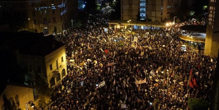تظاهرات معترضان نزديک محل اقامت نتانياهو