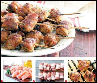 ناهار/ کباب مرغ و بيکن حلال را امتحان کنيد