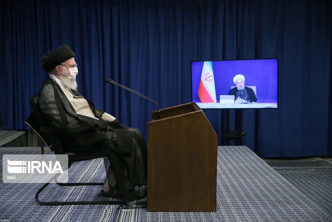 مهمترین محورهای بیانات رهبرانقلاب در نشست تصویری با اعضای دولت