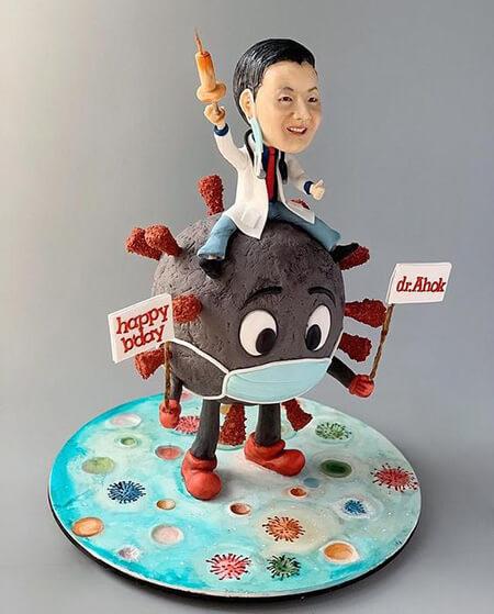 مدل کیک های کرونایی