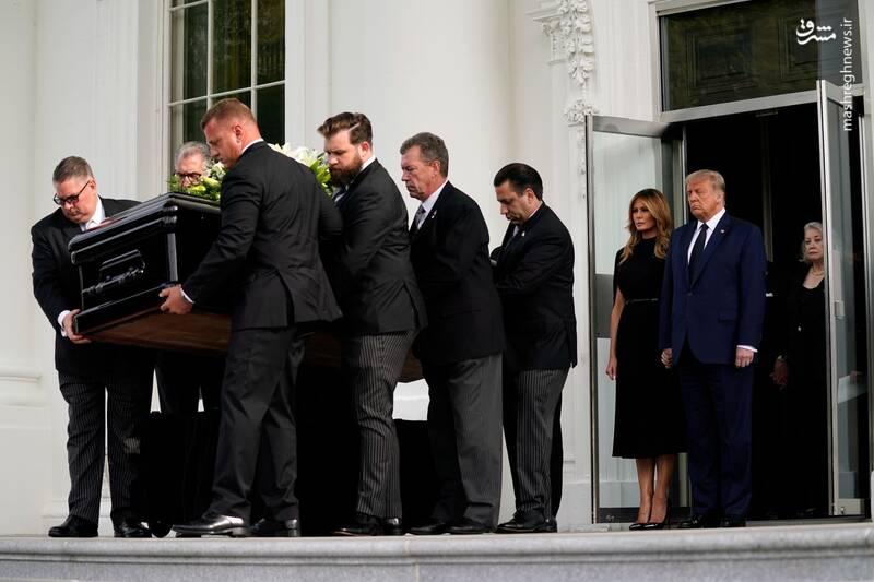 تشییع جنازه برادر ترامپ