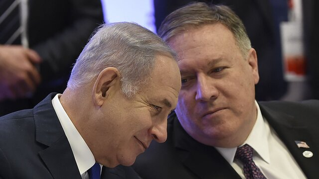 کنفرانس خبری نتانیاهو و پامپئو