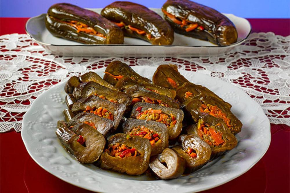 میز اردور/ ترشی بادمجان فوری برای غذاهای چرب و چیلی