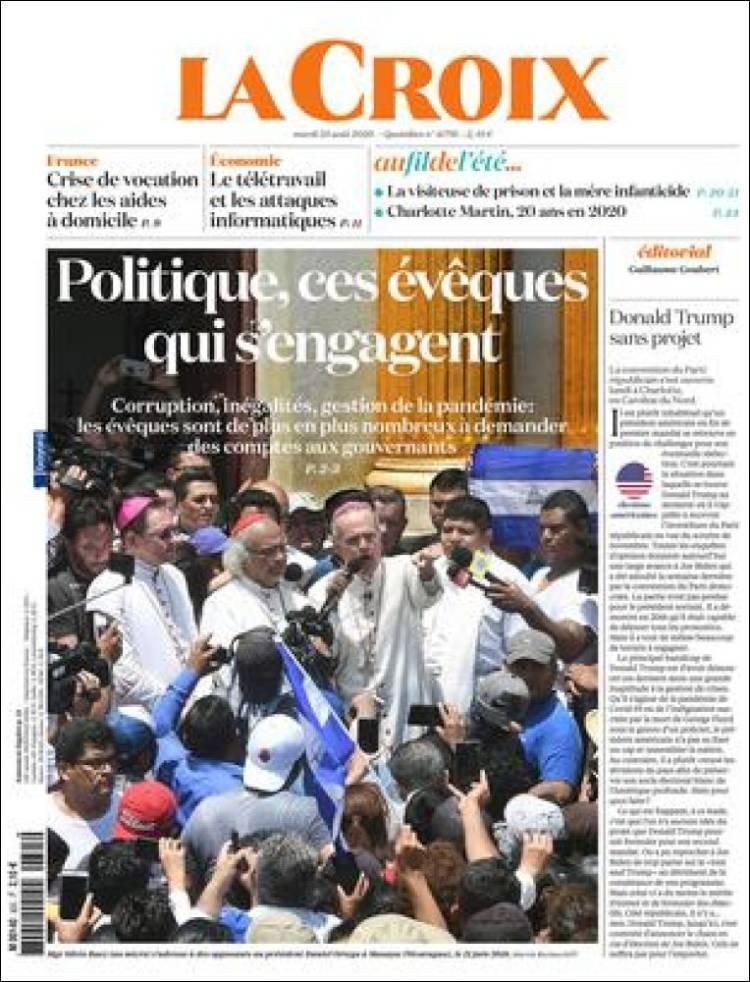 صفحه اول روزنامه لاکروا