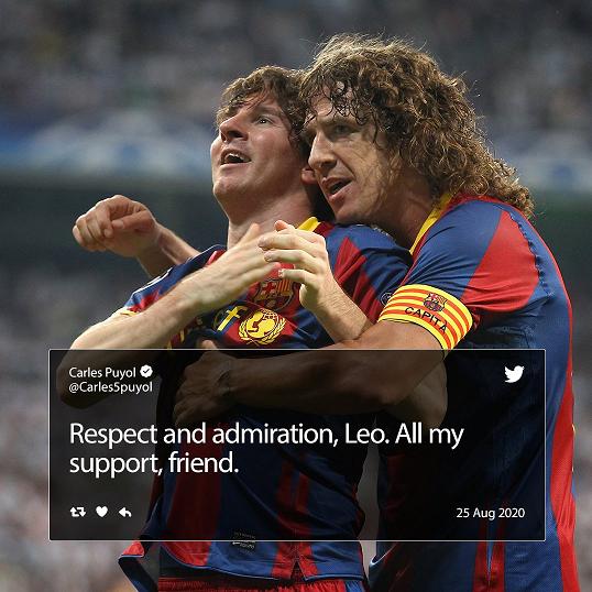 واکنش پویول به درخواست جدایی مسی از بارسلونا