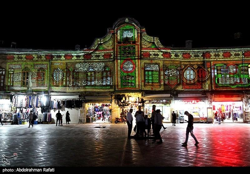 نورپردازی سه بعدی به مناسبت محرم در میدان امام همدان