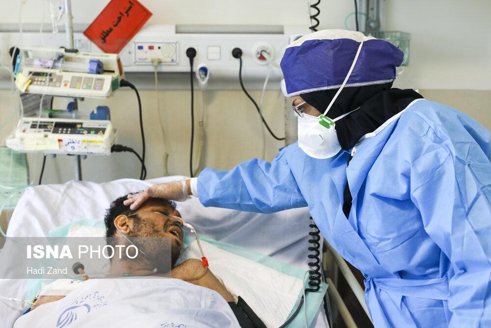 حال و روز بیماران کرونایی در بیمارستان «شهدای تجریش» تهران