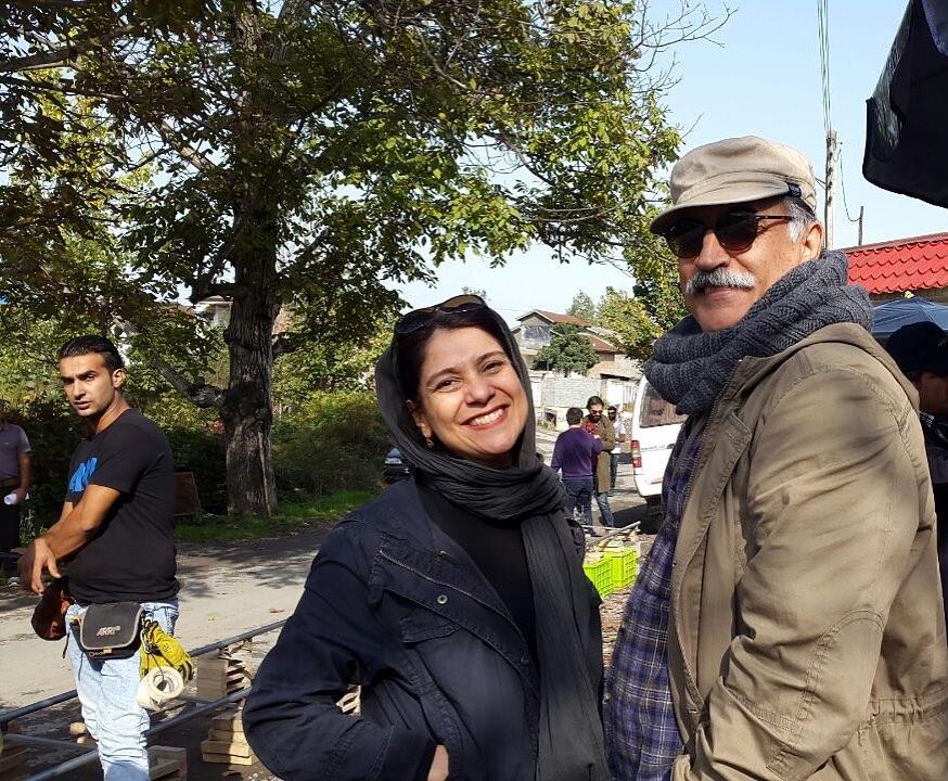 چهره ها/ خانم کارگردان در کنار بازیگر نقش سلمان فارسی