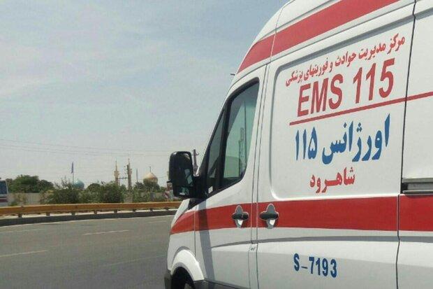 تصادف آمبولانس خصوصی با پراید در اصفهان ۵ مصدوم به جای گذاشت