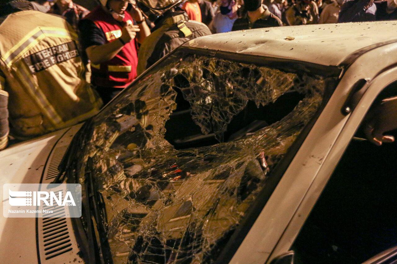 آتش سوزی خودروی پراید در کرج یک فوتی برجا گذاشت