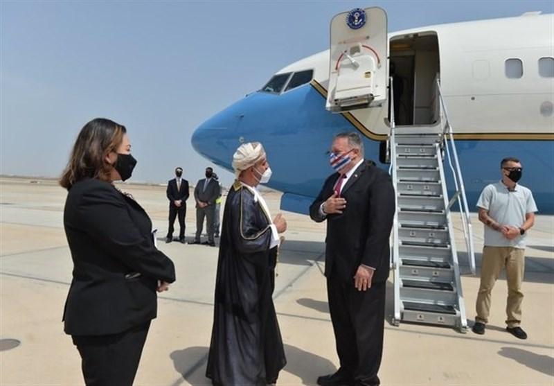 اظهارات پامپئو بعد از رسیدن به عمان
