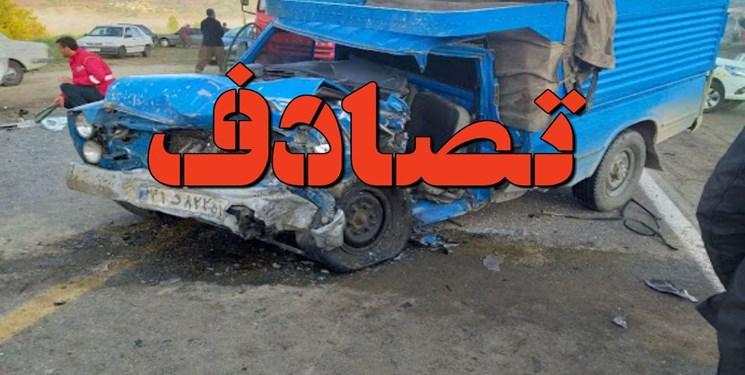 عکس/ تصادف شدید در جاده سرچم-اردبیل با ۶ مصدوم