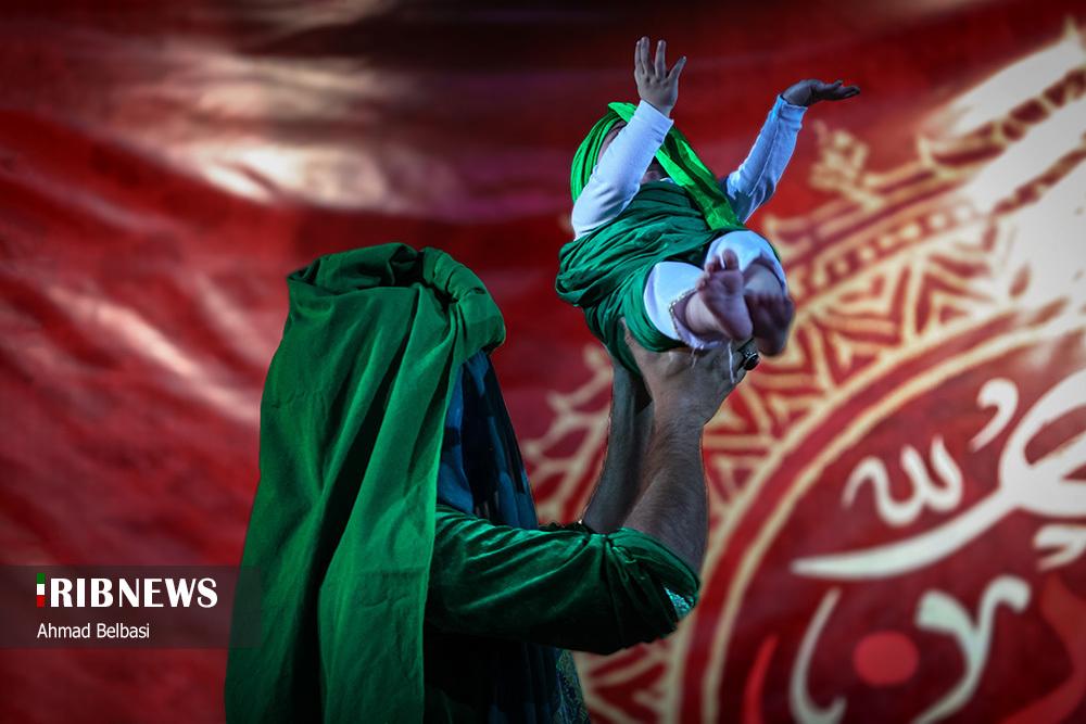 عزاداری شب هفتم محرم در مشهد مقدس