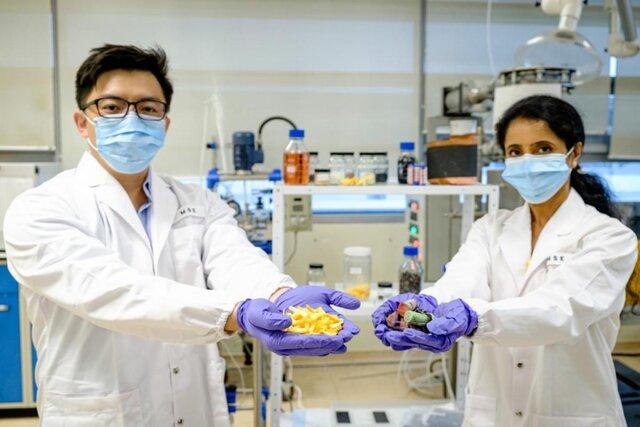 استخراج فلزات باارزش باتریهای مصرف شده با پوست پرتقال!