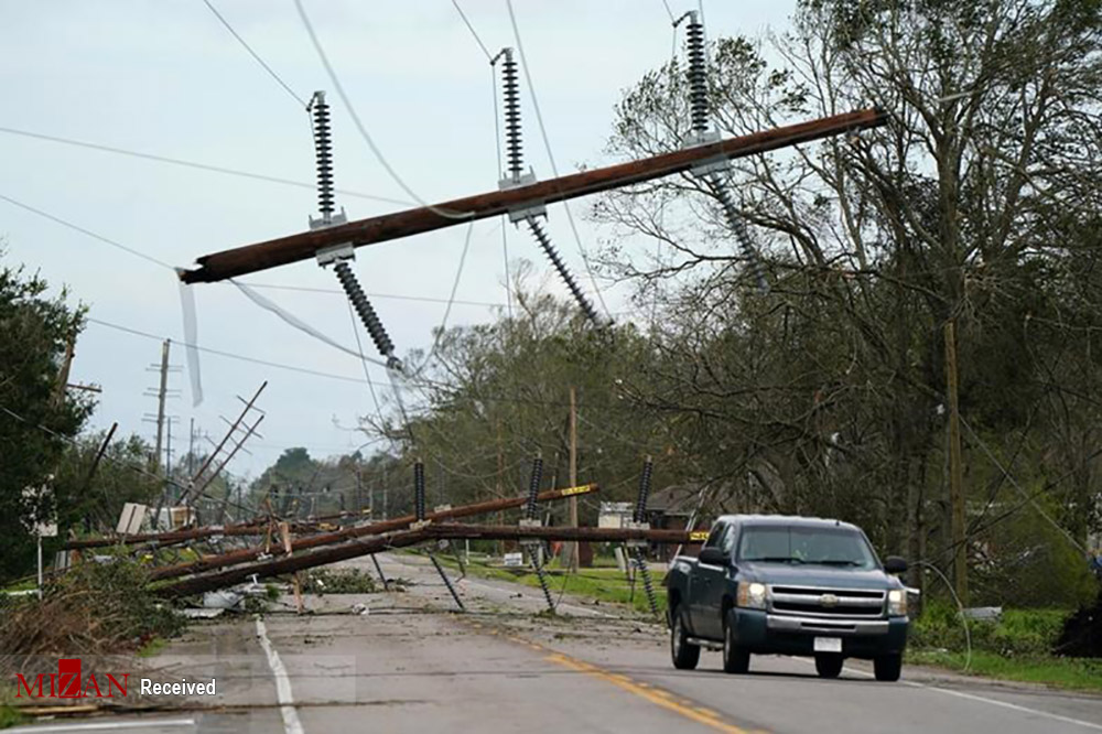 طوفان سهمگین لورا در ایالات لوئیزیانای آمریکا