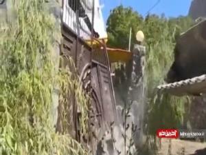 تخریب ویلای غیر مجاز 300 متری در منطقه فیروزکوه