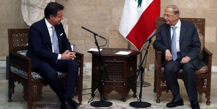 نخستوزیر ایتالیا با رئیسجمهور لبنان دیدار کرد