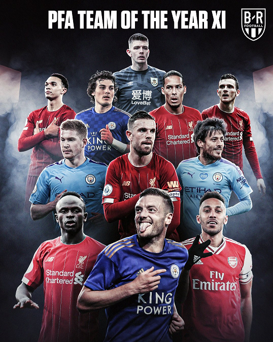 تیم منتخب فصل لیگ برتر انگلیس به انتخاب اتحادیه بازیکنان حرفهای فوتبال