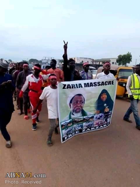 برگزاری تظاهرات برای آزادی شیخ زکزاکی در شهر زاریای نیجریه