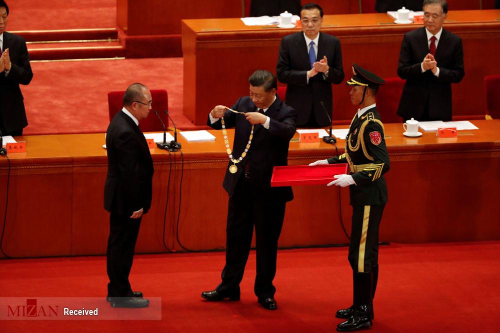 اهدای جوایز به مبارزین علیه کووید ۱۹ در چین