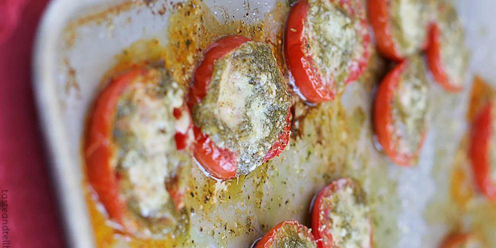 طرز تهيه گوجه فرنگي کبابي با پستو