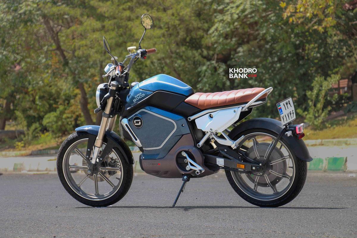 تست و بررسی موتورسیکلت برقی سوپر سوکو TC