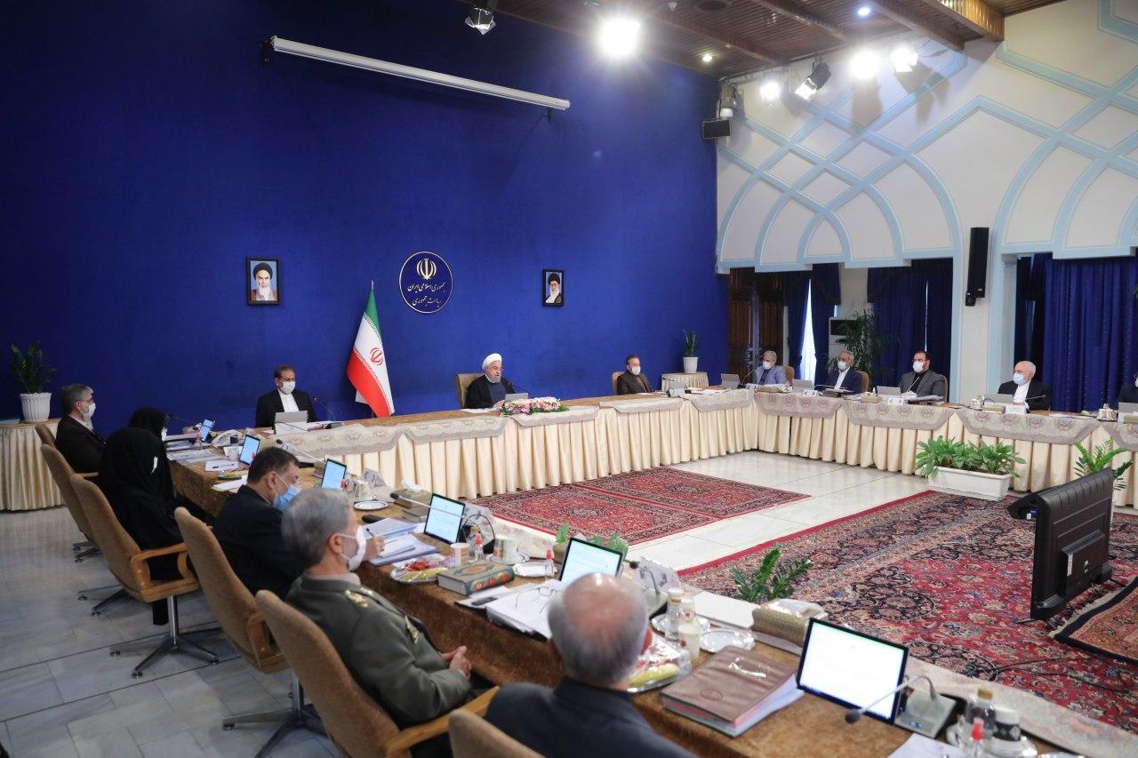 حضور ظریف در جلسه هیات دولت
