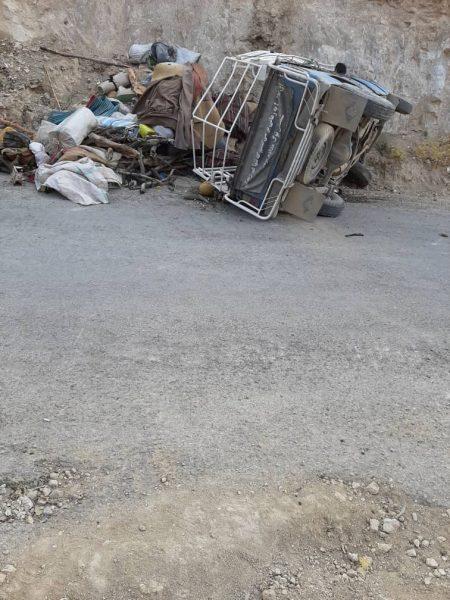 عکس/ واژگونی خودرو نیسان در مسیر دیشموک به خوزستان