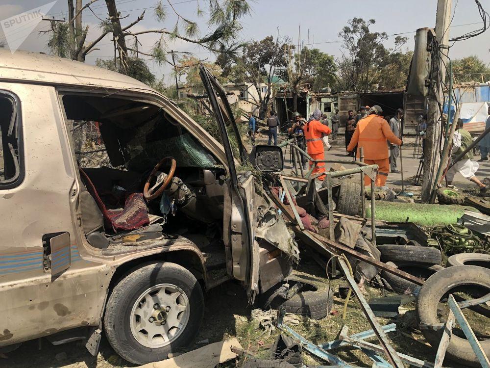 صحنه سوء قصد به معاون رئیس جمهور افغانستان در کابل