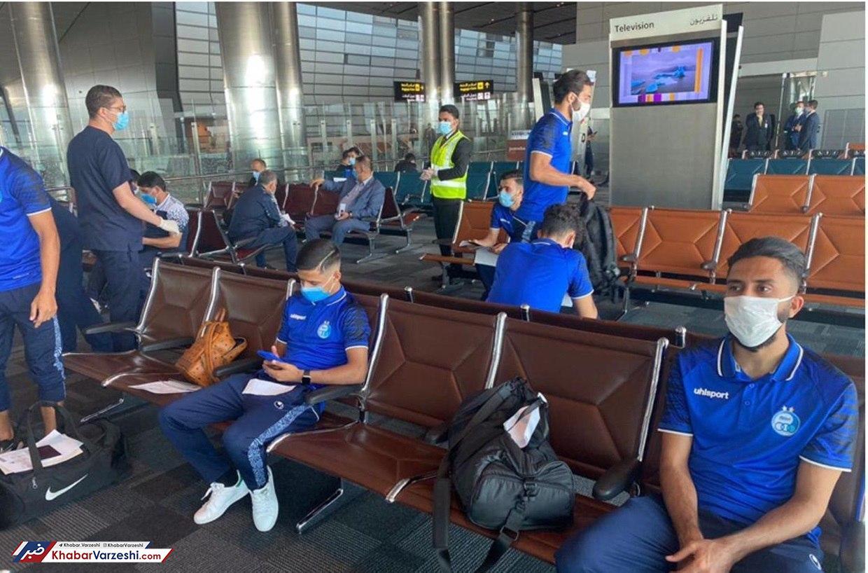 کاروان استقلال در فرودگاه دوحه