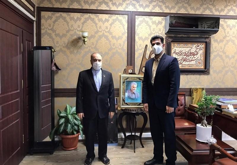 دیدار سلطانیفر با رئیس فدراسیون هندبال