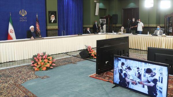 یک واحد تولیدی در یزد از طریق ویدئوکنفرانس با حضور رئیسجمهور افتتاح شد