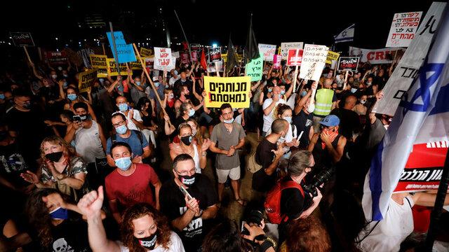 تظاهرات هزاران نفری در قدس برای برکناری نتانیاهو