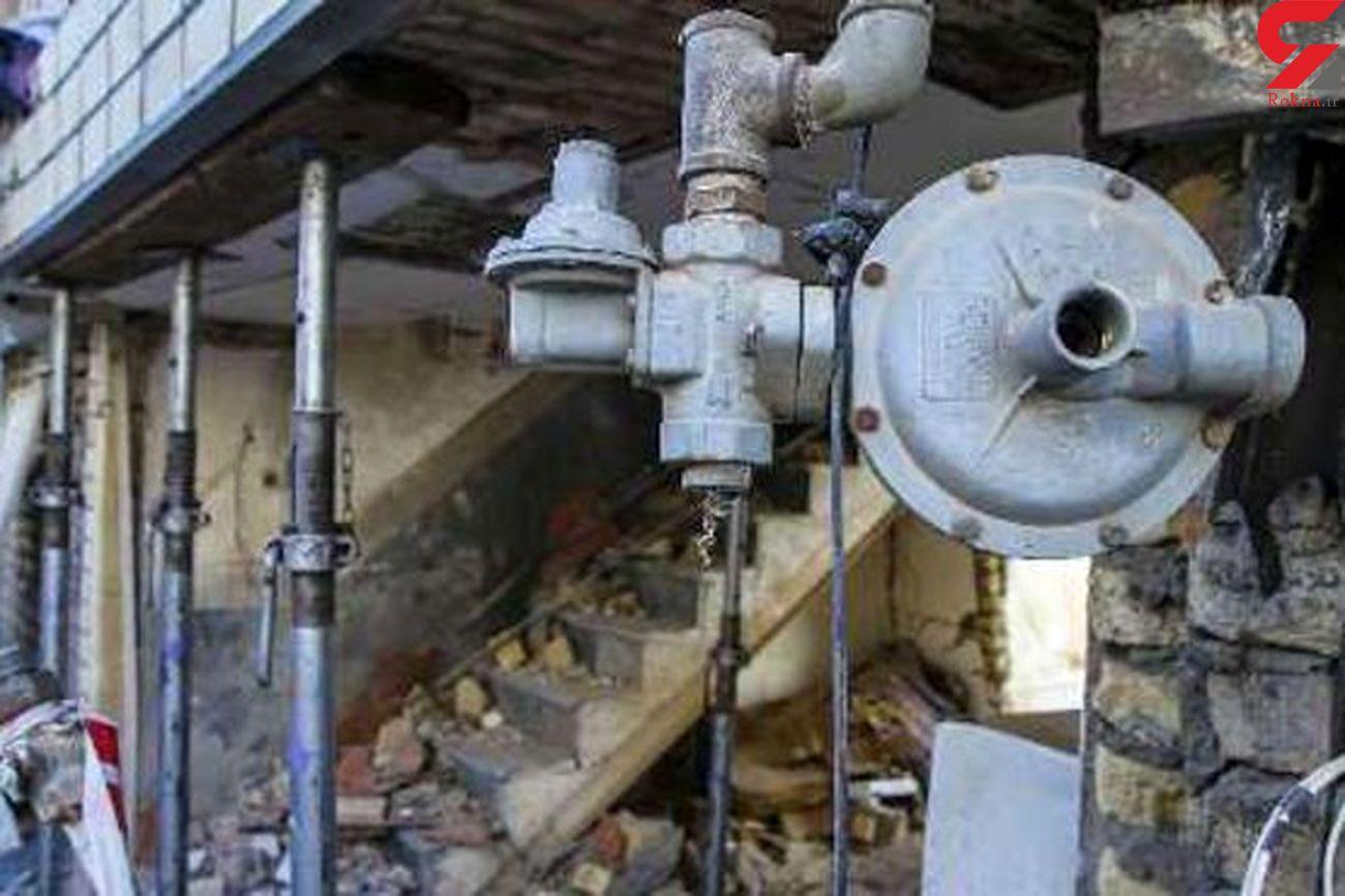 نشت گاز عامل انفجار در یک منزل مسکونی در کرمانشاه