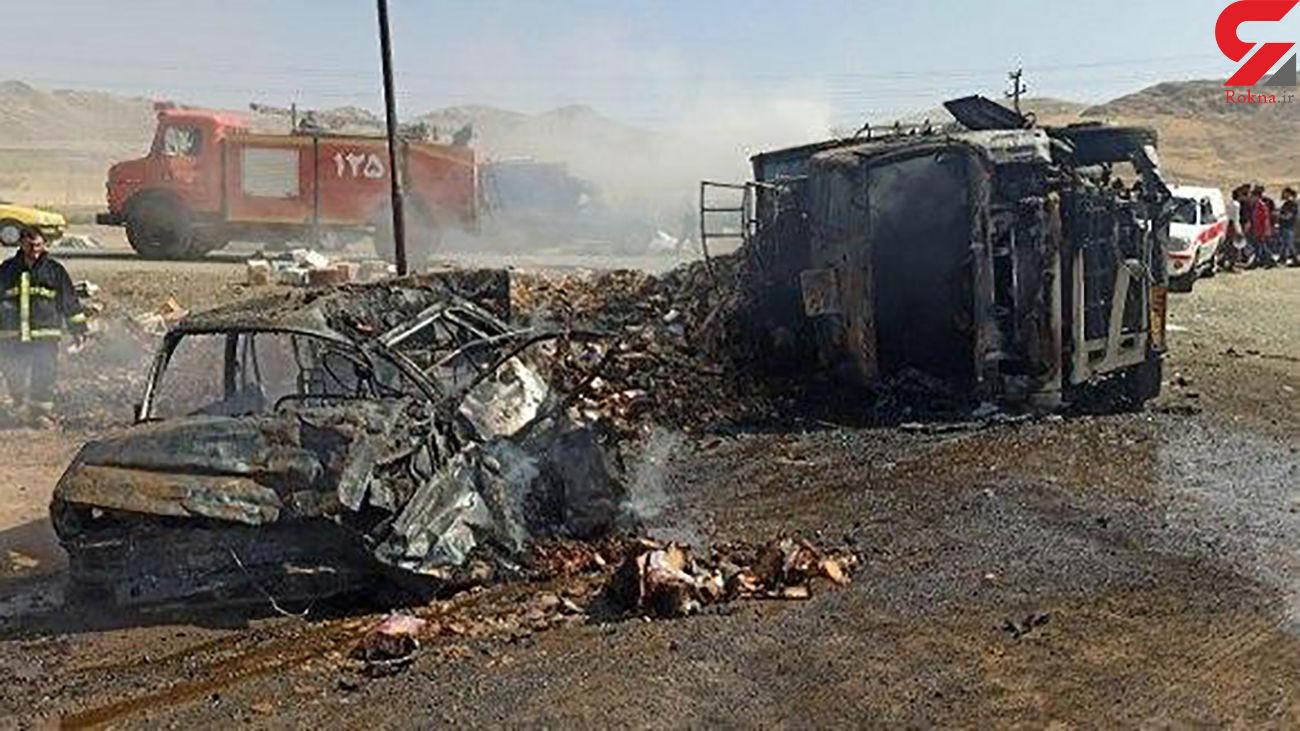 4 کشته در تصادف جاده بوکان به سقز